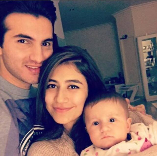 Syra-Yousuf with daughter and husband