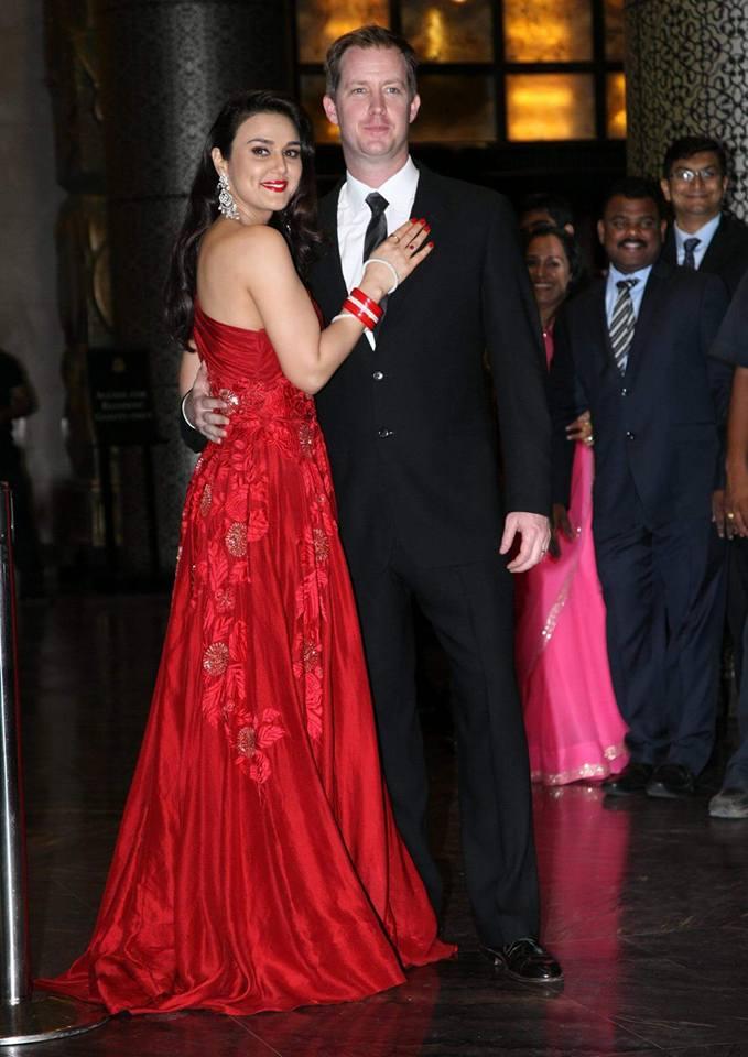 preity zinta and gene goodenough wedding reception