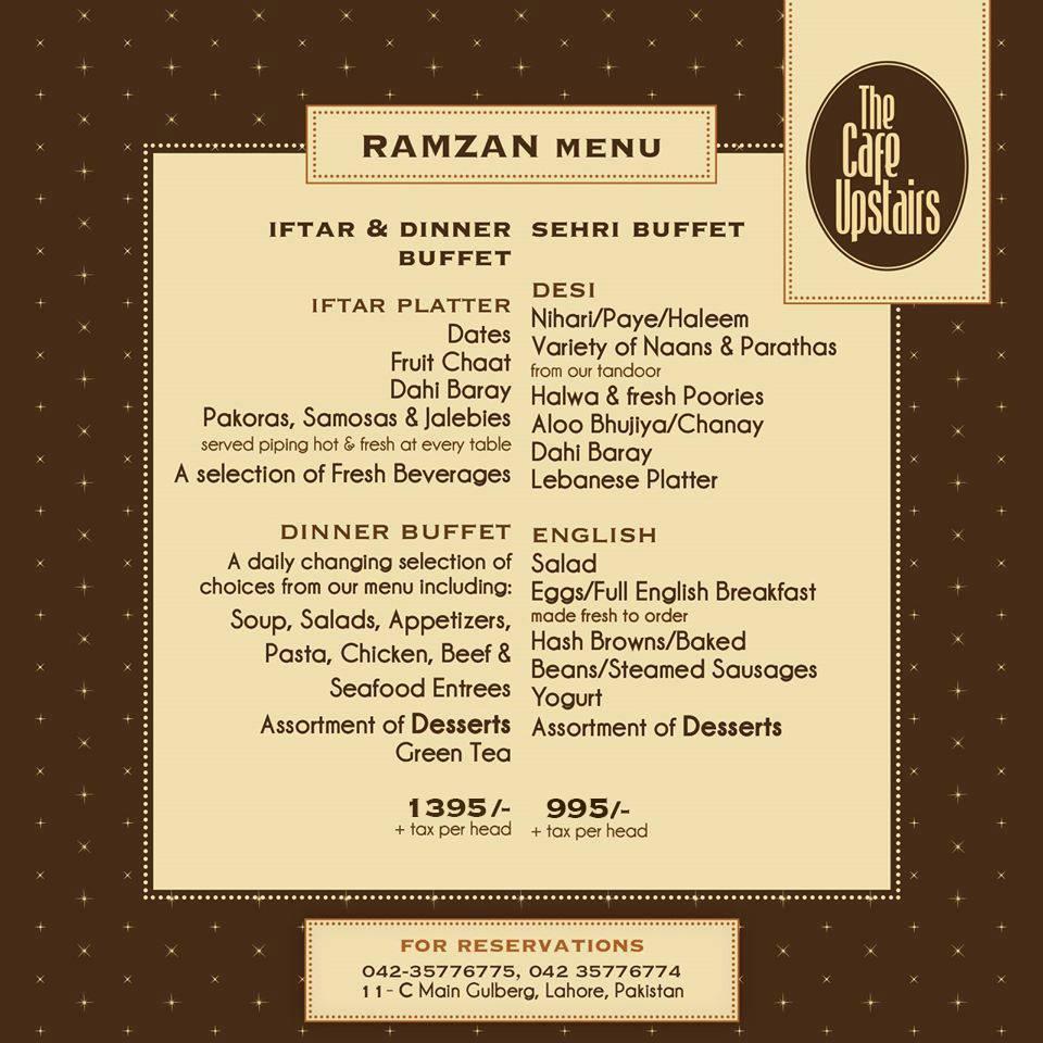 Best Iftar Deals In Lahore For Ramadan 2016 Brandsynario