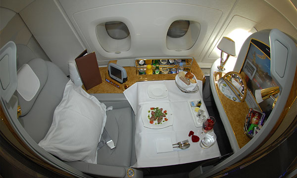 First class cabins : Photo: Emirates