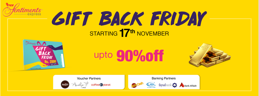 """... for the first time ever, TCS Sentiments Express being the market leader in online gifting and occasion based services, is launching """"Gift Back Friday""""."""