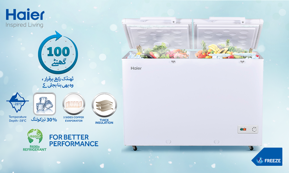 What Deep Freeze Of 2018 Revealed About >> Haier Deep Freezer Preserves The Freshness Of Food For 100 Hours
