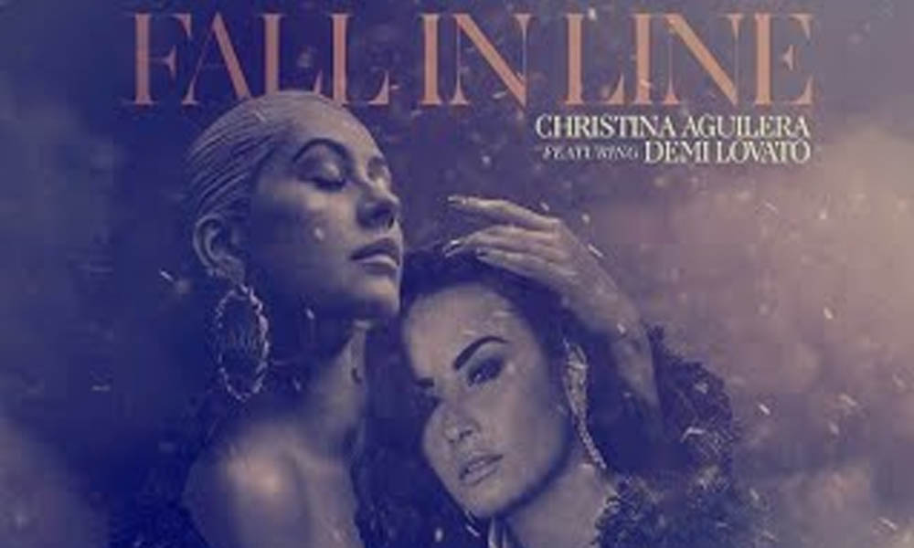 Christina Aguilera And Demi Lovato Reveal Joint Track  Fall In Line ... 45b58c2d6a0