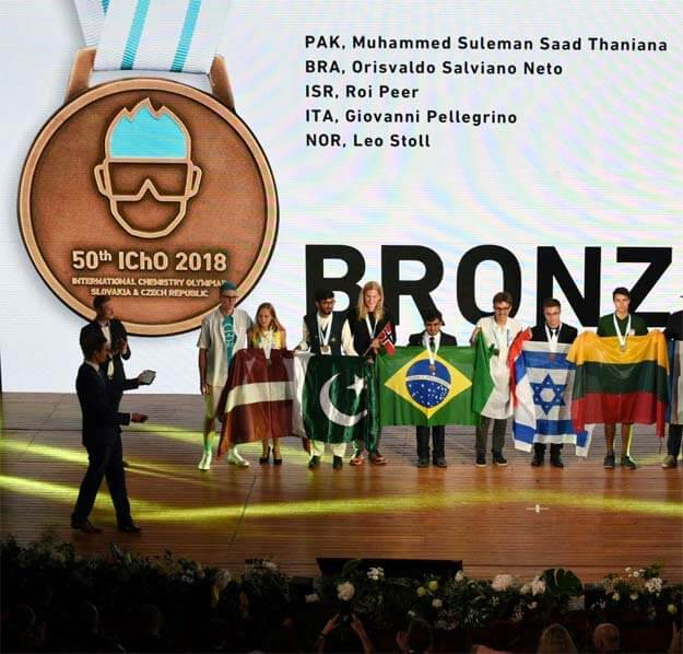 Karachi Grammar School Student Wins Bronze Medal At