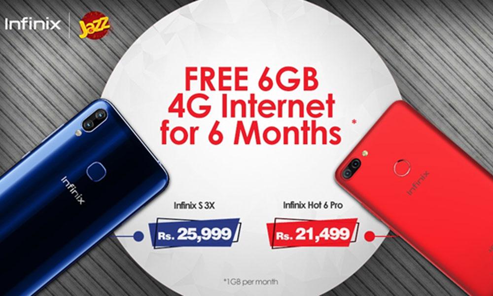 Purchase Infinix S3X or Hot 6 Pro & Get Jazz 6GB Free Internet Data