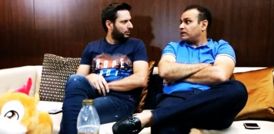 Shahid Afridi and Sehwag