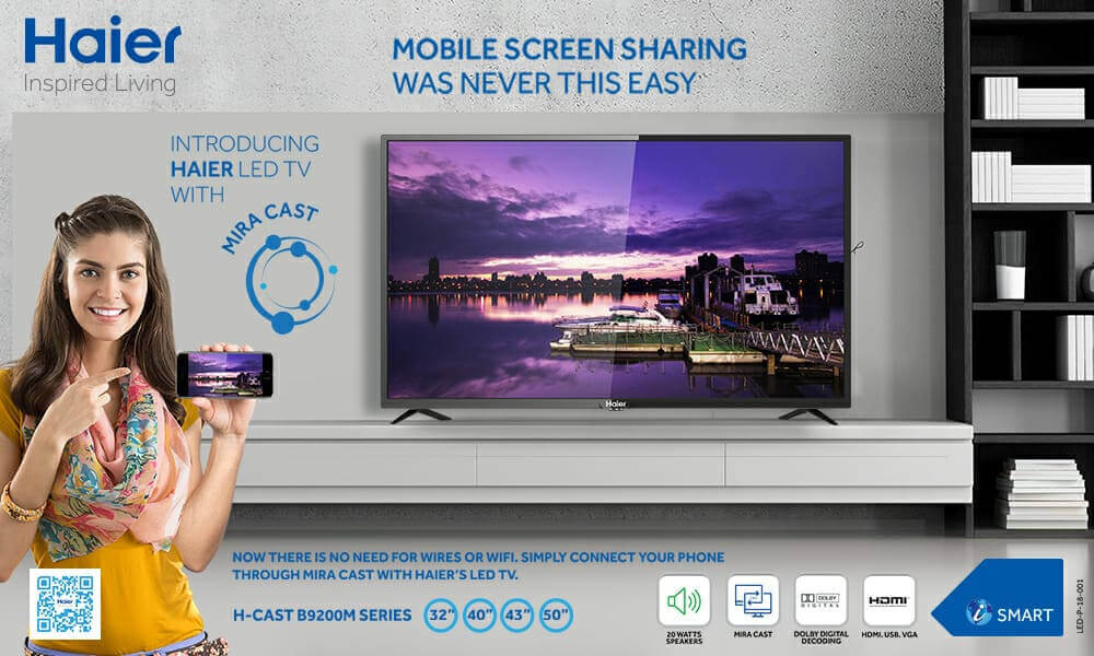 Haier Introduces a Lineup of Flat Screen LED TVs with