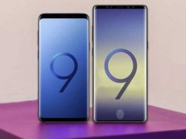 Samsung Galaxy Note 9 and S9