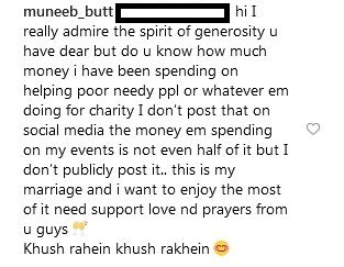 Muneeb butt replies to haters