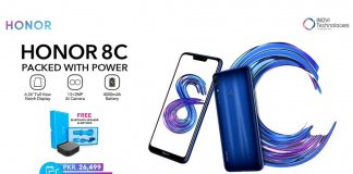 Honor 8C Pre Booking Pakistan