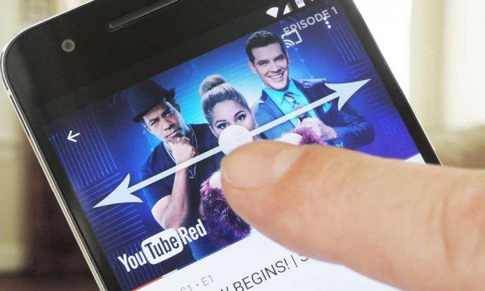 YouTube Swipe