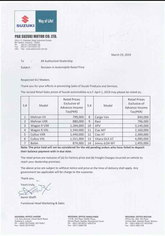 Suzuki Car Prices In Pakistan Increase By Pkr 30 000 Brandsynario