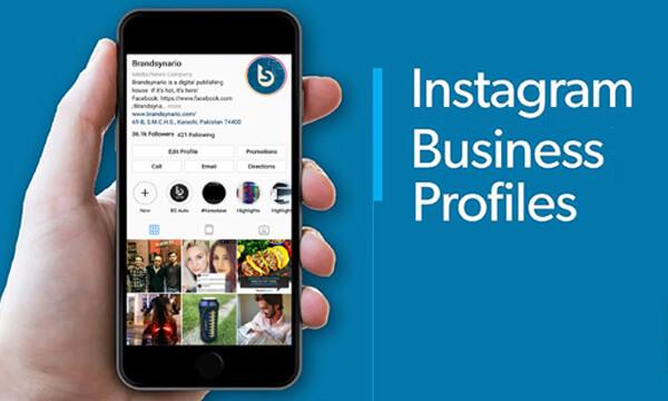 Insta business profile