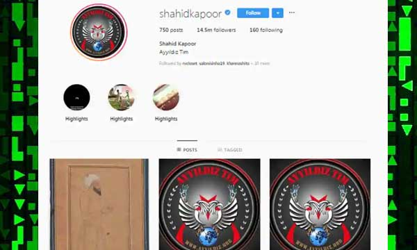 Shahid Kapoor yhacked