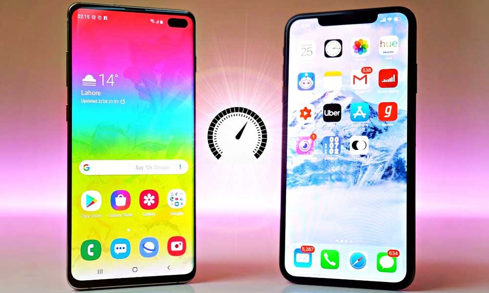 Samsung S10 Plus Defeats Apple iPhone XS Max in Speed Test