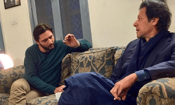 Afridi and Imran Khan