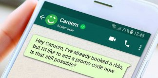 careem via whatsapp