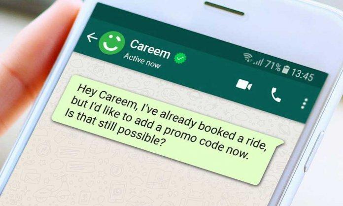 careem via whatsapp