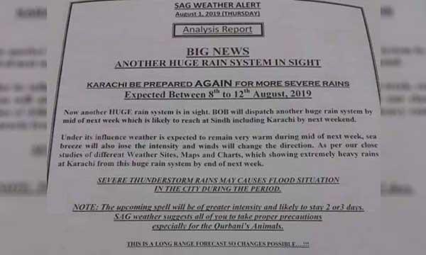 karachi weather alert