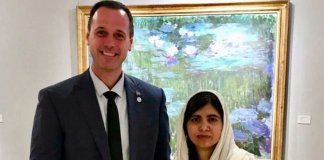 malala with quebec minister