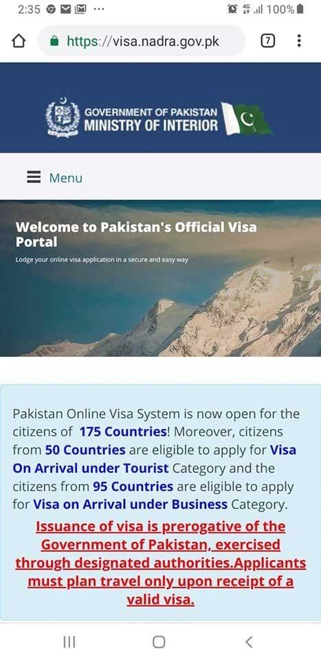 pakistan visa portal