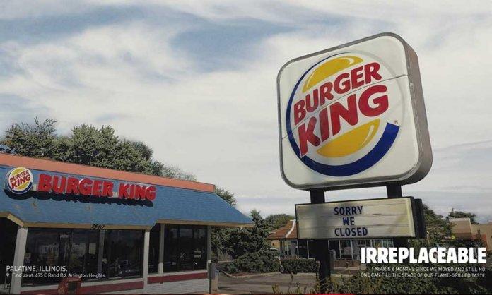 Burger King Irreplaceable