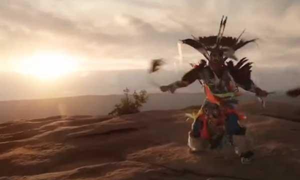 Native American fancy war dancer Canku One Star