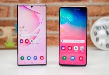 Galaxy S10 vs Note 10