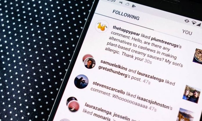 instagram activity log