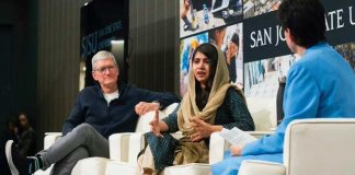Tim Cook Fan of Malala