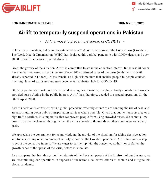 Airlift Pakistan