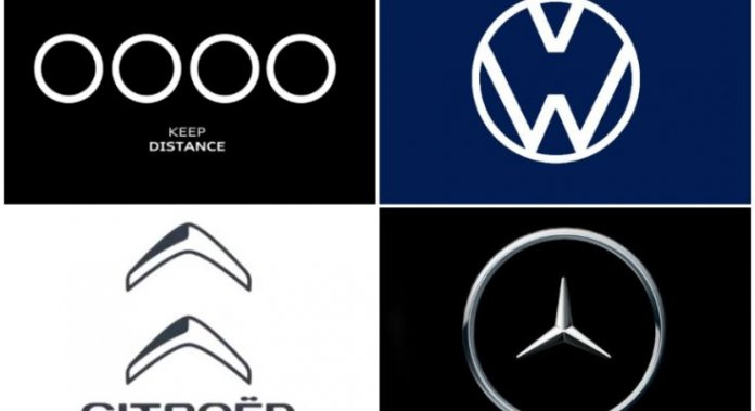 Car Manufacturers Alter Logo to Show Importance of Social Distancing!