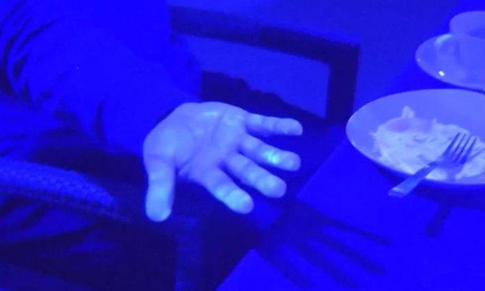 Black light experiment