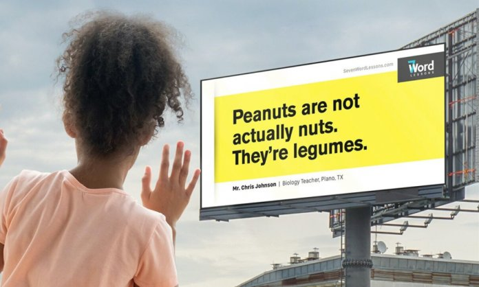 Seven-Word Lessons Is Educating Children Through Billboards