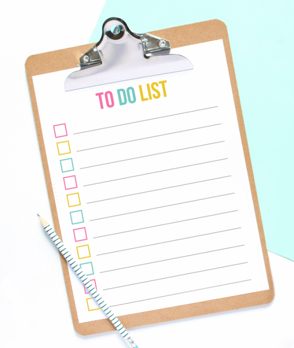 tips to work from home, to do list