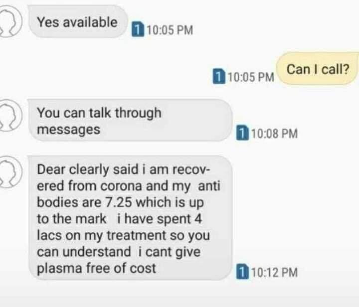 Coronavirus Plasma