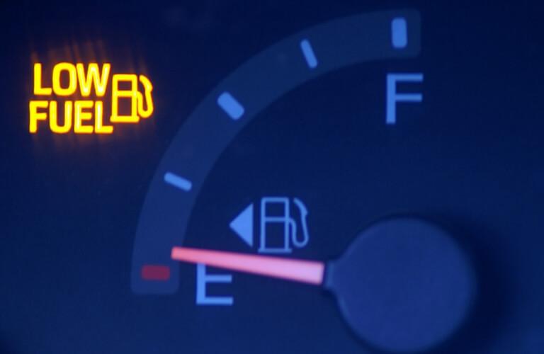 low gas warning