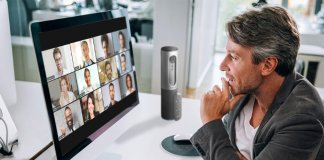 A zoom meeting being conducted