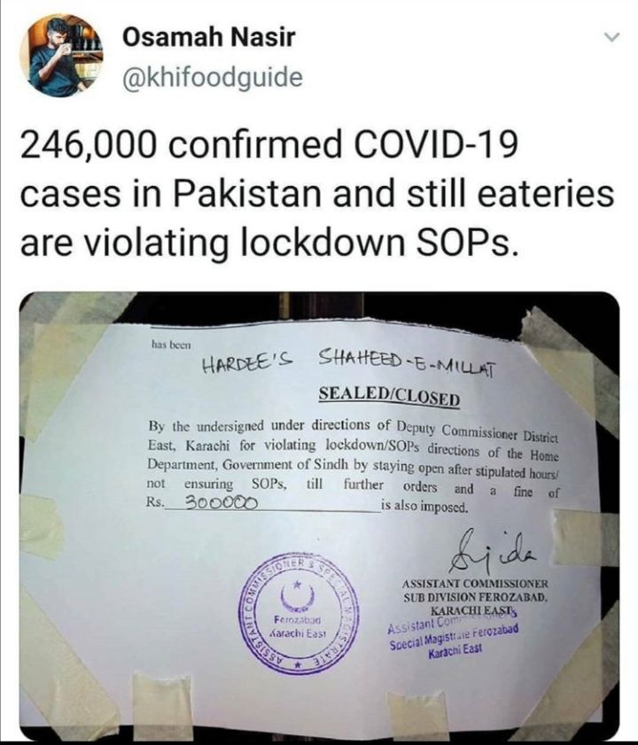 Hardee's Karachi Sealed