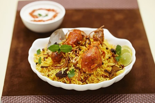 Biryani with foodpanda