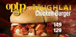 OPTP Mughlai Chicken Burger