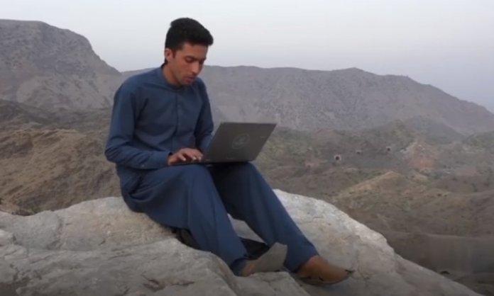 Meet Saifullah From Peshawar Who Climbs Mountains To Take Online Classes