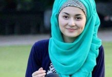 Hania Amir's hijab picture from college days