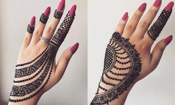 Mehndi designs at home
