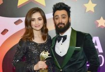 Umair Jaswal and Sana Javed