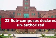 23 sub campuses