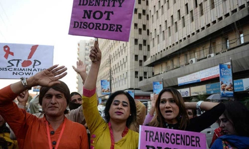 Transgender rights in Pakistan protest