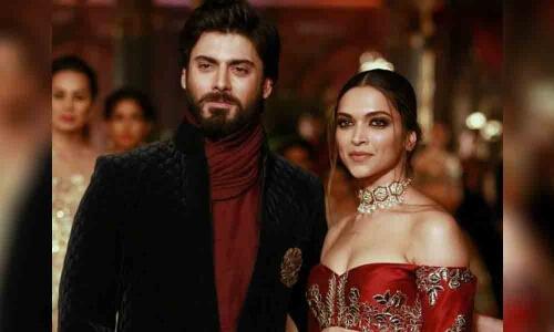 Fawad Khan with Deepika Padukone