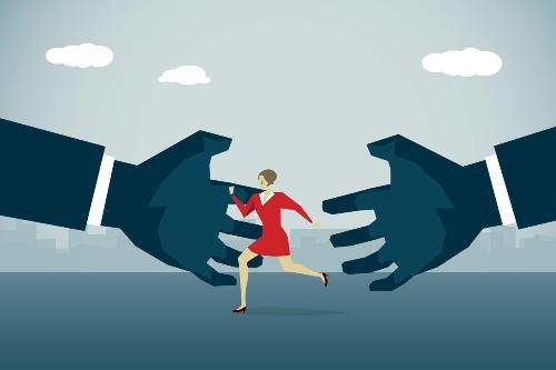 women harass men