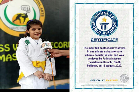 7-Year-Old Fatima Naseem Breaks Indian World Record